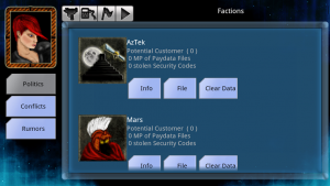 Figure 7: Factions Page
